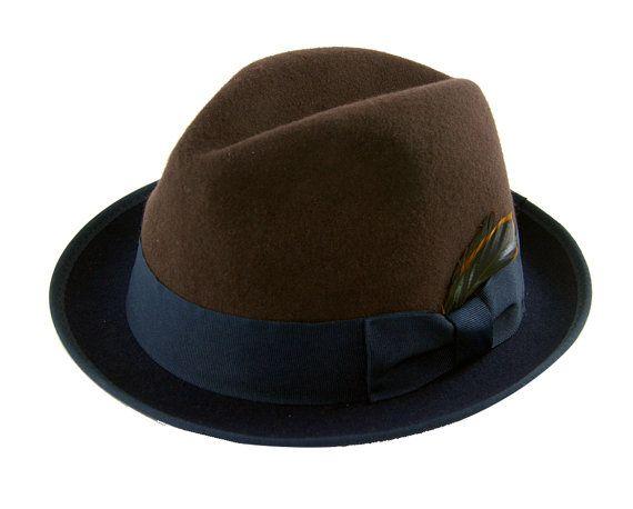 Mens Fedora Hat   Winter Fedora Hat    Gray Fedora Hat