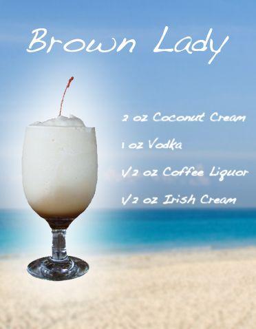 BROWN LADY - Frozen Drink Recipe #1 Drink on my list # aioutlet!