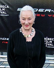 Rosemary Harris (1927) is an English actress best known for her roles in The Lion in WInter, Notorious Woman, Holocaust, Tom & Viv, Beau Brummel, Spiderman 1,2,&3, The Boys from Brazil, and Crossing Delancey.  Harris has been married twice and has one daughter, actress Jennifer Ehle.