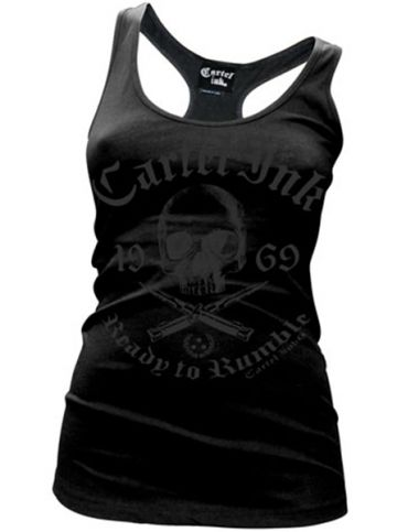 "Women's ""Ready To Rumble"" Racerback Tank by Cartel Ink (Black) #InkedShop #InkedMag #Ready #Rumble #Tank #Black"