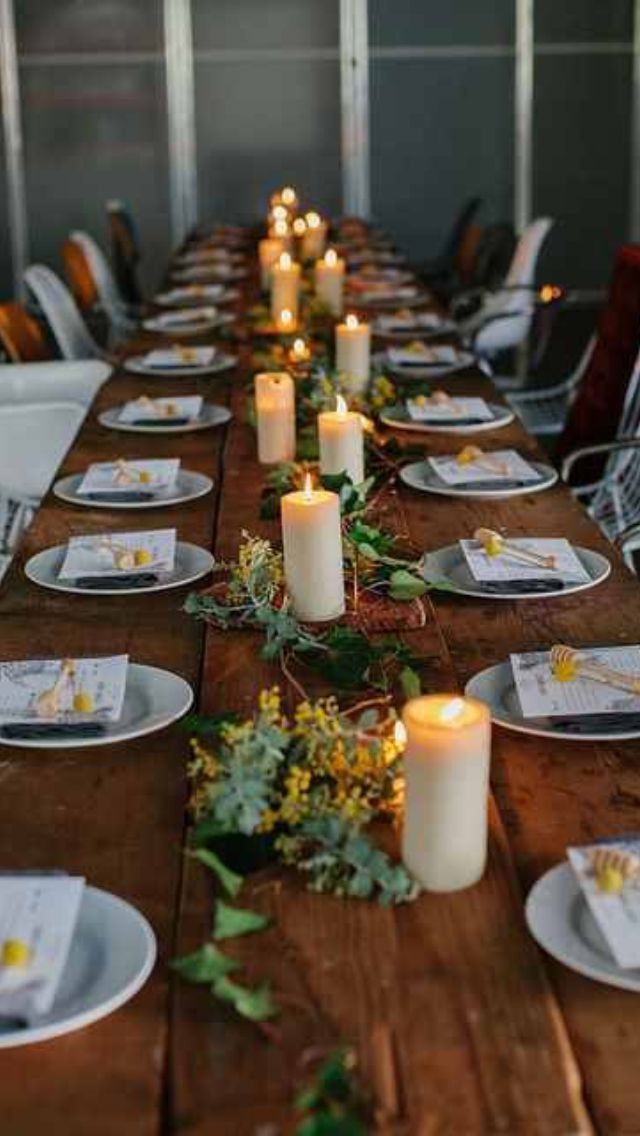 Rustic table settings for weddings google search for Elegant table setting for thanksgiving