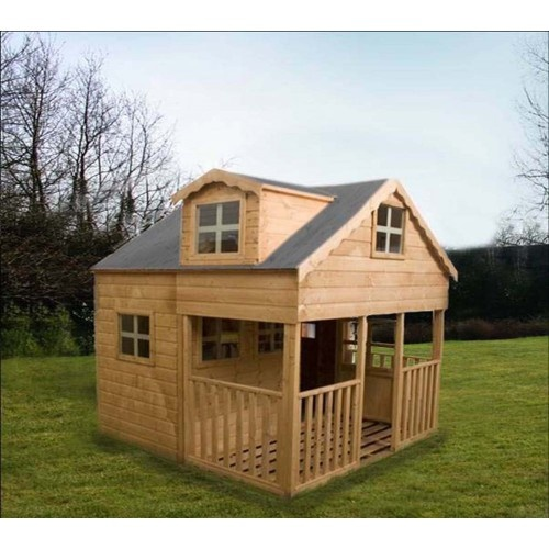 Children's Double Storey Playhouse with Dorma Window 7x7 ...