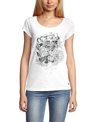 QS by s.Oliver Damen T-Shirt 49.407.32.3742, Einfarbig, Gr. 40 (Herstellergröße: L), Weiß (white placed print 01D0) QS by s.Oliver http://www.amazon.de/dp/B00JM638R0/ref=cm_sw_r_pi_dp_xDvlub0YEEXH5
