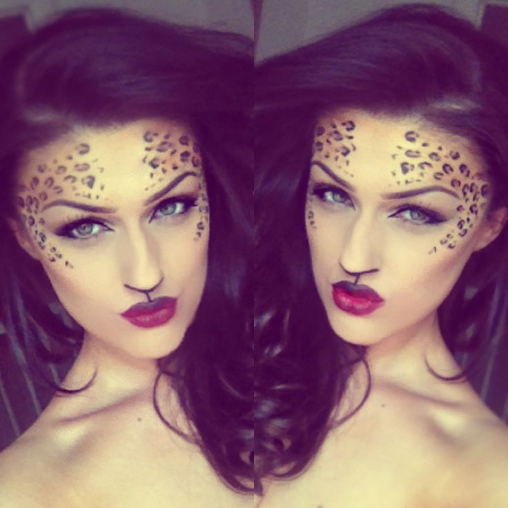 ... Makeup Halloween, Halloween Leopard Makeup, Leopard Halloween Makeup