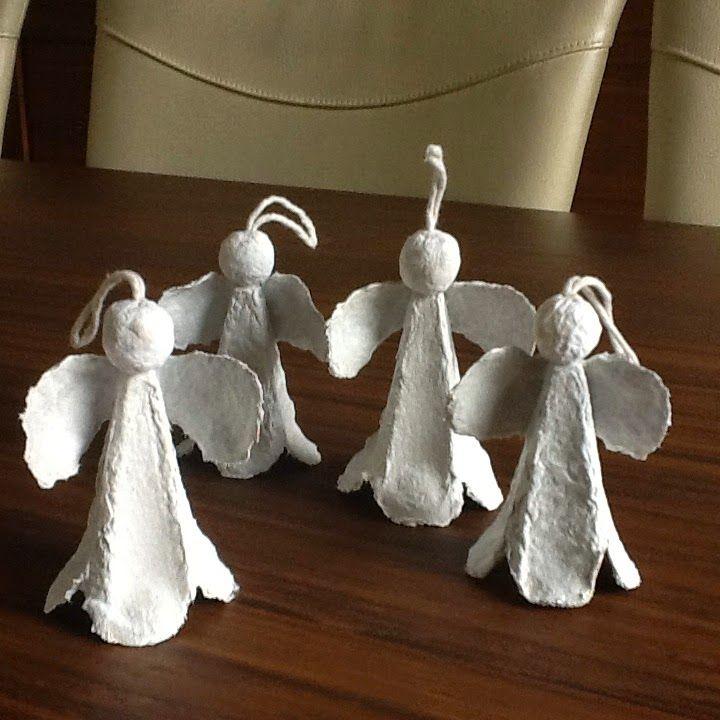 alles-vanellis      engeltjes van eidoos, kopje van aluminiumfolie met papier eromheen.
