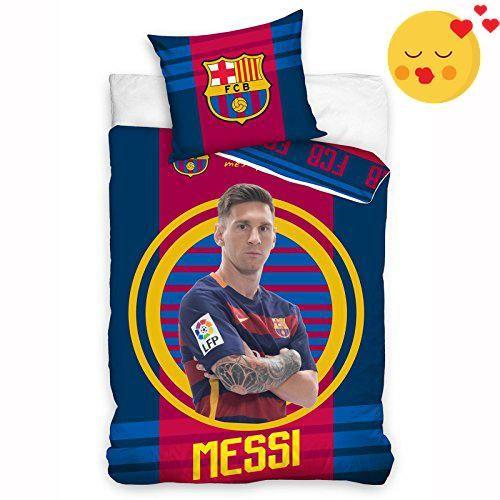 #wow  100% official FC #Barcelona merchandise Features star striker Lionel Messi Ideal for any FCB fan! Duvet cover size: 140cm x 200cm European pillowcase size:...