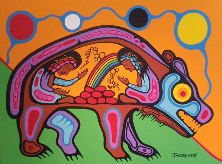 Boo has decided he is going to art school.  Here's another fave...  Mark Anthony Jacobson —Inner Child Healing of the Bear clan Sweatlodge