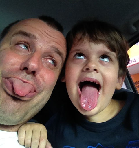 Daniel and Noak having fun!