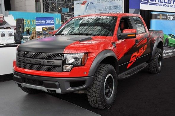 Red Ford F-150 SVT Raptor Trucks