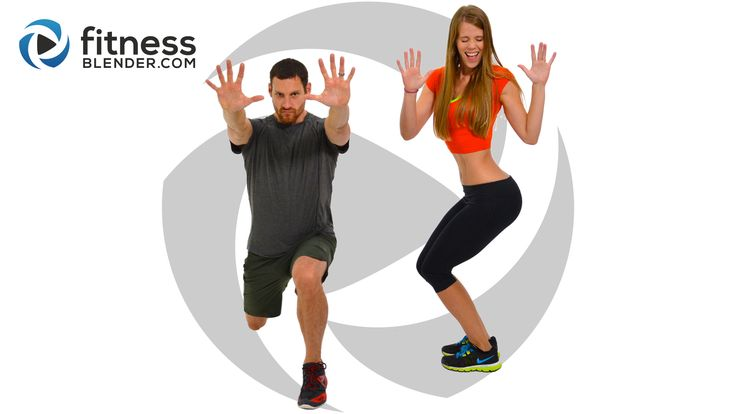 Day 5: Free 5 Day Workout Challenge for Busy People / HIIT Cardio and Lower Body Strength - Fitness Blender