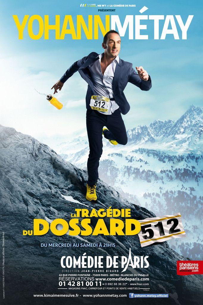 """""""La Tragédie du Dossard 512"""" est programmée du 2 mars au 30 juillet 2016 à la Comédie de Paris, du mercredi au samedi à 21h15 - www.comediedeparis.com « Par défi, un homme ordinaire, courant déjà après sa vie, se lance dans l'Ultra Trail du Mont Blanc..."""