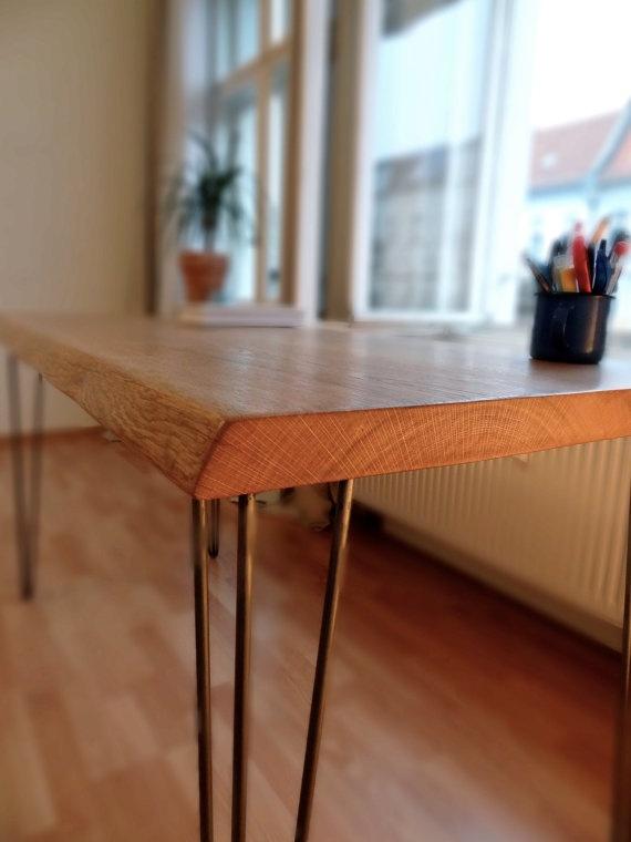 OAK DESK: Double Piece, Old Oak Writing Desk