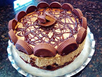 Christine's Kitchen Chronicles: Guest Post: Peanut Butter Cup Brownie Bottom Cheesecake