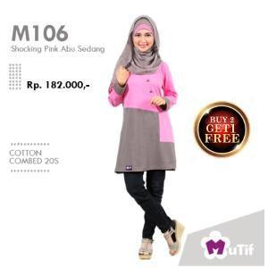 Baju Blus Mutif M-106 Shocking Pink - BUY 2 FREE 1 - HARGA MERDEKA