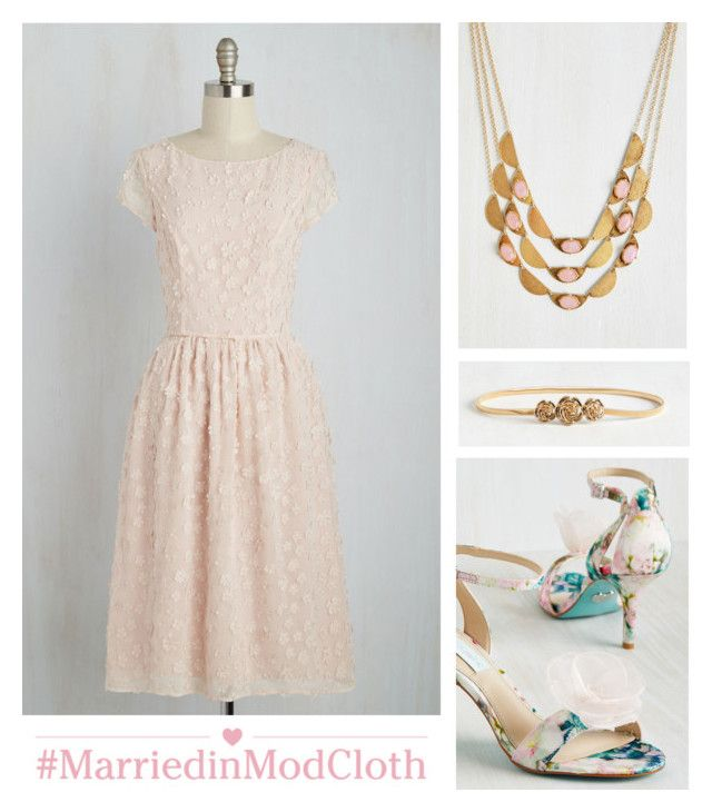 """""""Bridesmaid Proposal Dress"""" by modcloth ❤ liked on Polyvore"""