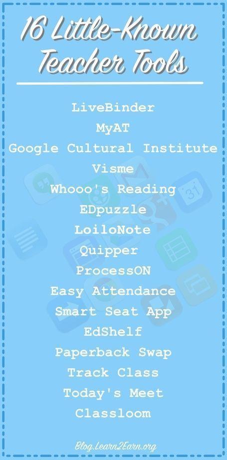 16 Little-Known Teacher Tools | iGeneration - 2...