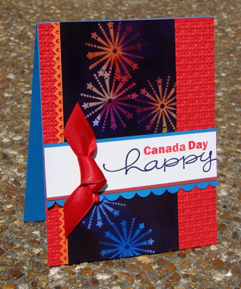 Canada Day Stampin' Up! card