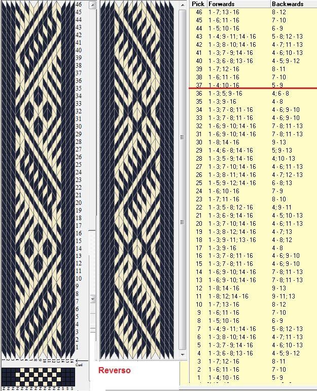 16 tarjetas, 2 colores, repite cada 36 movimientos // sed_1022b diseñado en GTT ༺❁