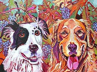perfect for waiting rooms: Art Stuff, Dogs Days, Arti Stuff, Wine Stuff, Dogs Art, Artsy Dogs, Dresses Dogs, Pup Stuff