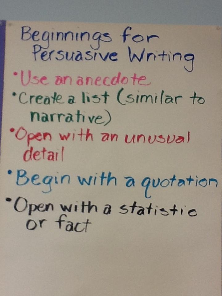 Persuasive essay hook