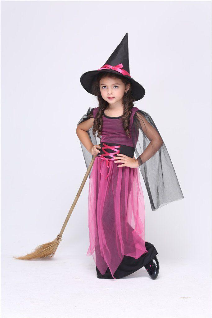 Halloween Witch Girls Long Dress