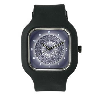 Steel Wheel Clock In Blue-Grey Watch