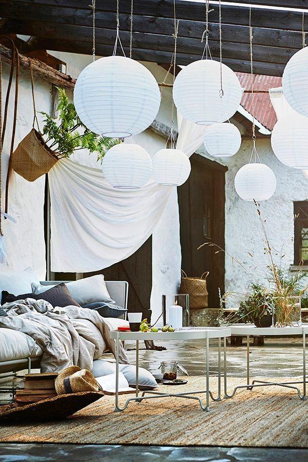 Guter Stoff Textilien Schaffen Privatsphare Bild 10 Ikea Beleuchtung Ikea Outdoor Ikea Gartenmobel
