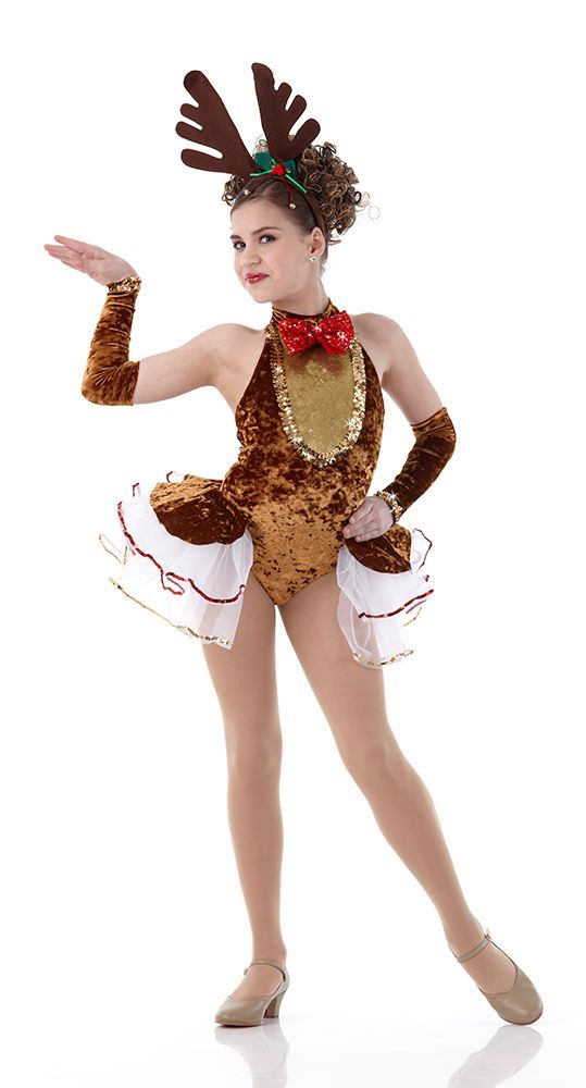 Details About Rockin Reindeer Christmas Dance Costume W