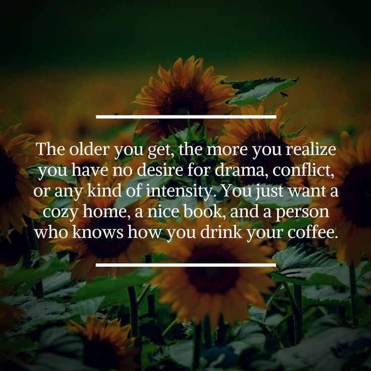 So true!  Now that I'm older this is more important than anything & my love makes my coffee every morning!