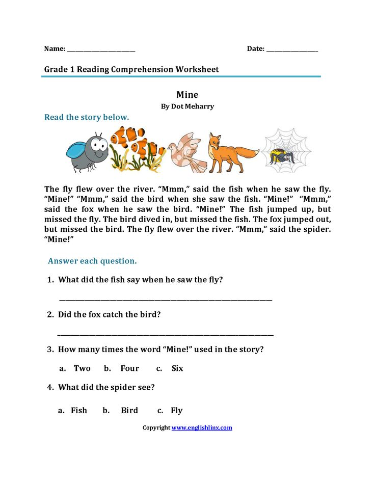 Mine First Grade Reading Worksheets Reading worksheets