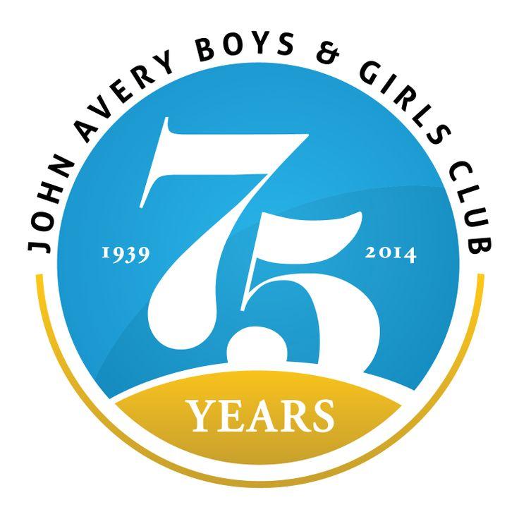 75th Anniversary logo for the John Avery Boys and Girls Club