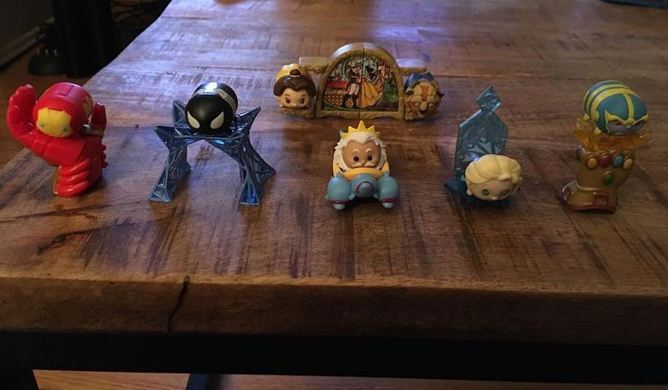 Another #TsumTsum haul! �� This one is a mix of #Marvel and #Disney �� there's #Thanos on the #InfinityGauntlet �� #KingTriton and #Elsa are adorable �� #IronMan is one of my favorites ���� and #SpiderMan in his #Symbiote outfit is seriously awesome. ���� I'm most excited that I finally got #Belle though. I really wanted her accessory so that I could complete #Beast �� I love these. Super glad they're on sale. �� #TheLittleMermaid #Thor #BeautyAndTheBeast #Frozen #SymbioteCostume…