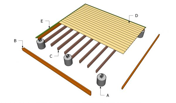 Building a ground level deck diy pinterest ground for Low elevation deck plans