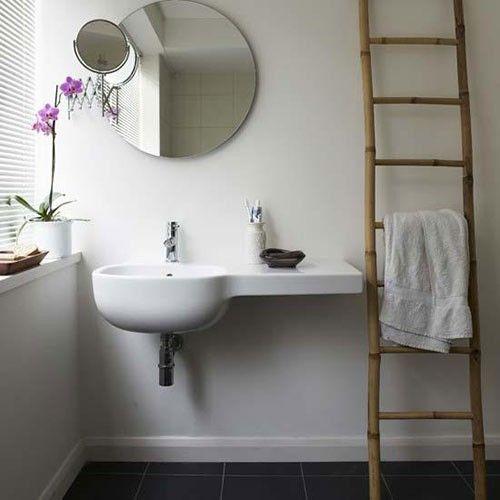 Die besten 25+ Bambus Spiegel Ideen auf Pinterest blau weiß - spiegelleuchten für badezimmer