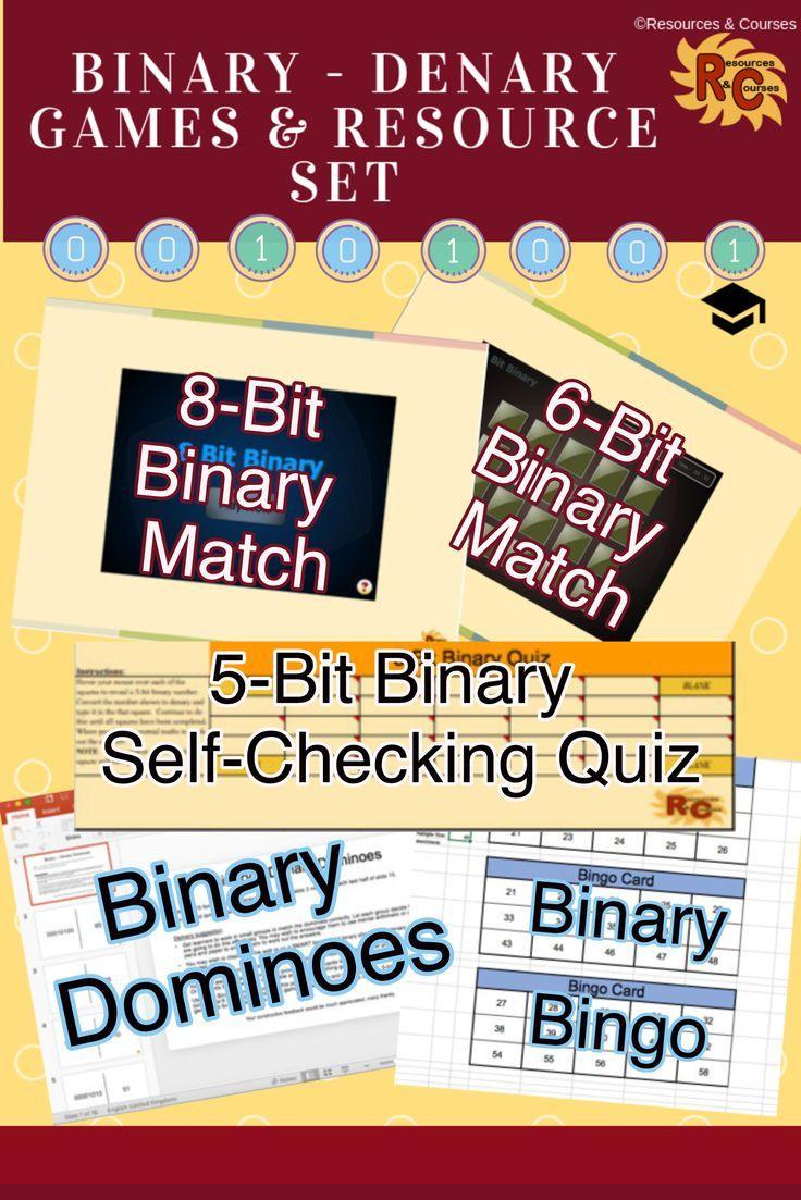 Binary Denary Games Resource Set Grade Interactive Printable Unique Teaching Resources Science Teaching Resources Game Resources [ 1103 x 736 Pixel ]
