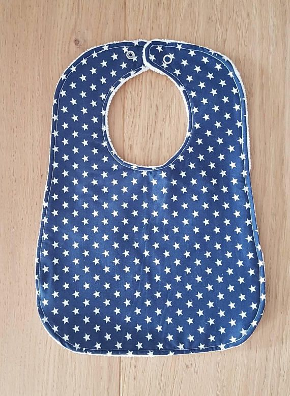 Check out this item in my Etsy shop https://www.etsy.com/au/listing/533959954/navy-white-stars-baby-bibs-with