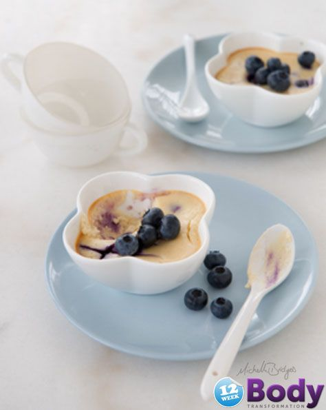 12WBT Crustless Blueberry Cheesecake only 111 cals per serve