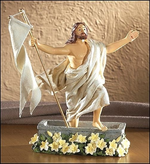 Risen Jesus Christ From Tomb Easter Figure Christian