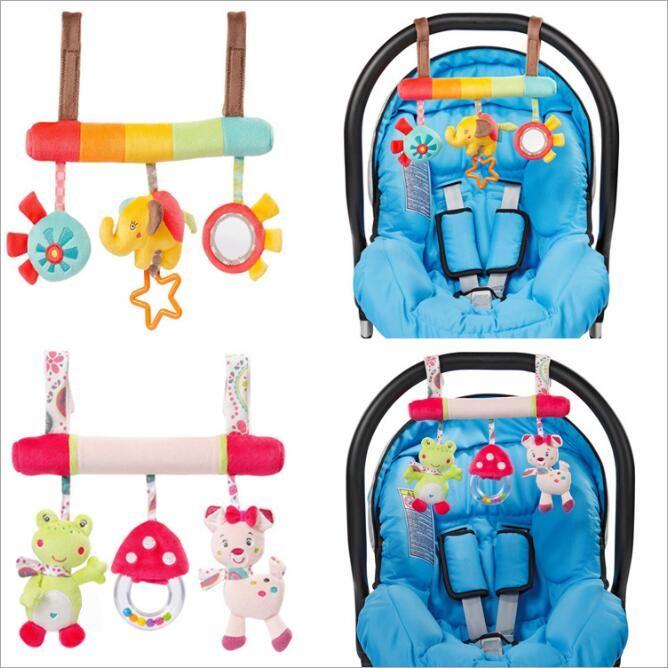 1pcs/set Newborn Baby Stroller Toys Crib Mobile Animals Model Baby lathe hanging Educational Baby Rattles Plush Stuffed Toys