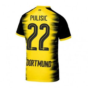 Puma Borussia Dortmund Pulisic #22 UCL Soccer Jersey (Home 17/18): http://www.soccerevolution.com/store/products/PUM_40292_A.php