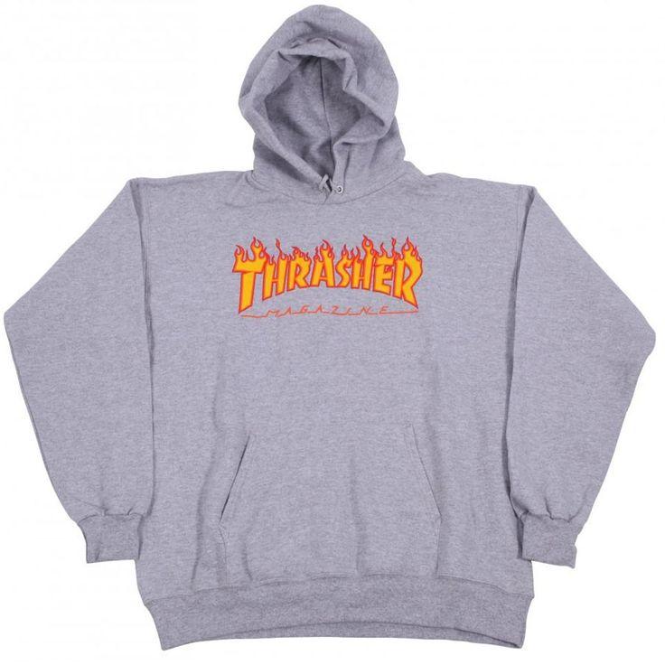 Thrasher Skateboard Mag Flame Heather Hoody