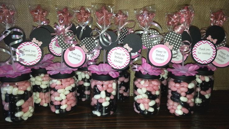 Minnie Mouse Baby Food Jar Party Favors by Stinkystuffs on Etsy
