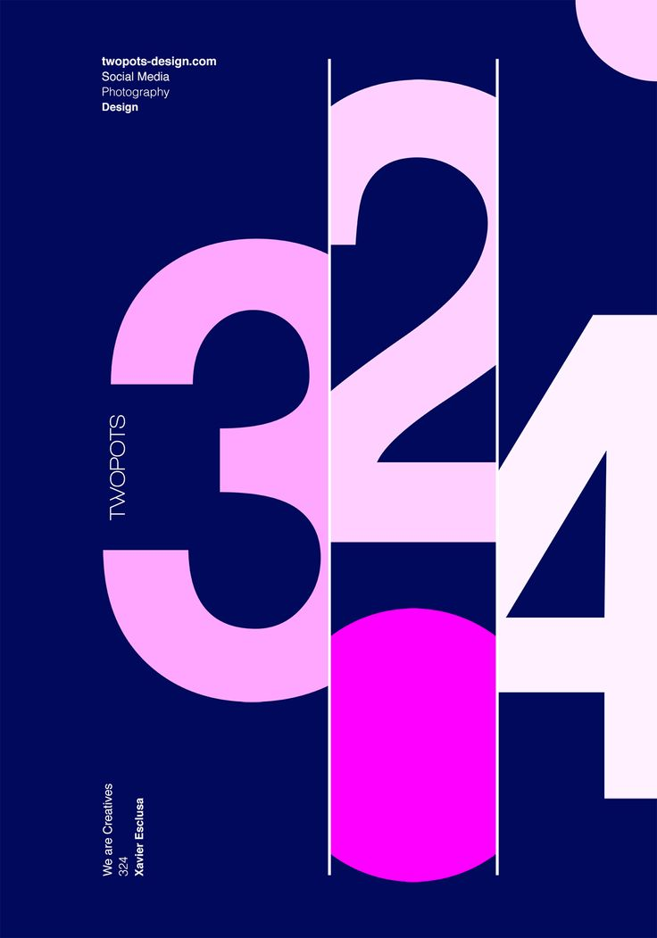 The magic of numbers in graphic design posters - Twopots Design Studio
