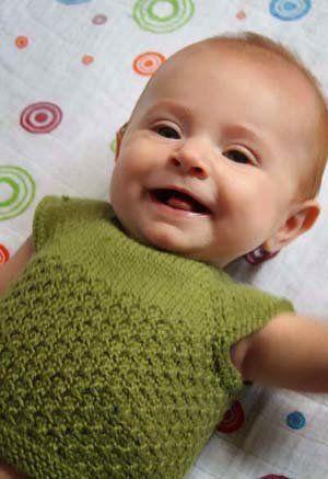 Free Knitting Pattern - Baby Sweaters: Tummy Warmer Baby Vest