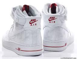 nike air hightops white red