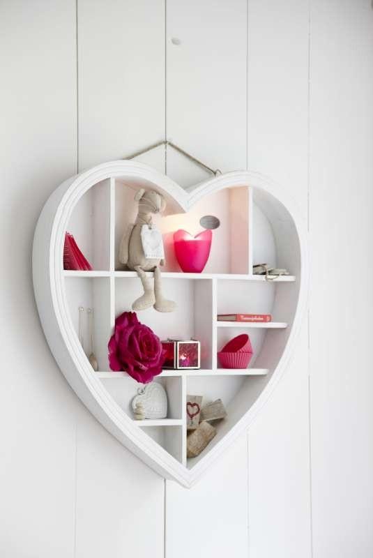 Riverdale letterbak hart wit 40 cm