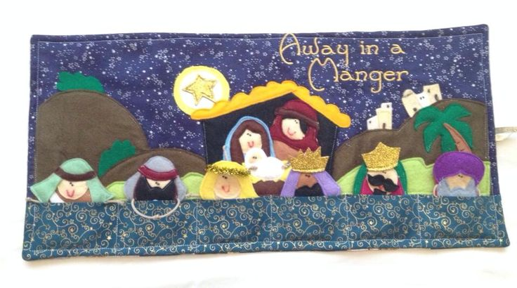 Nativity finger puppets made from felt. Design bought from etsy.