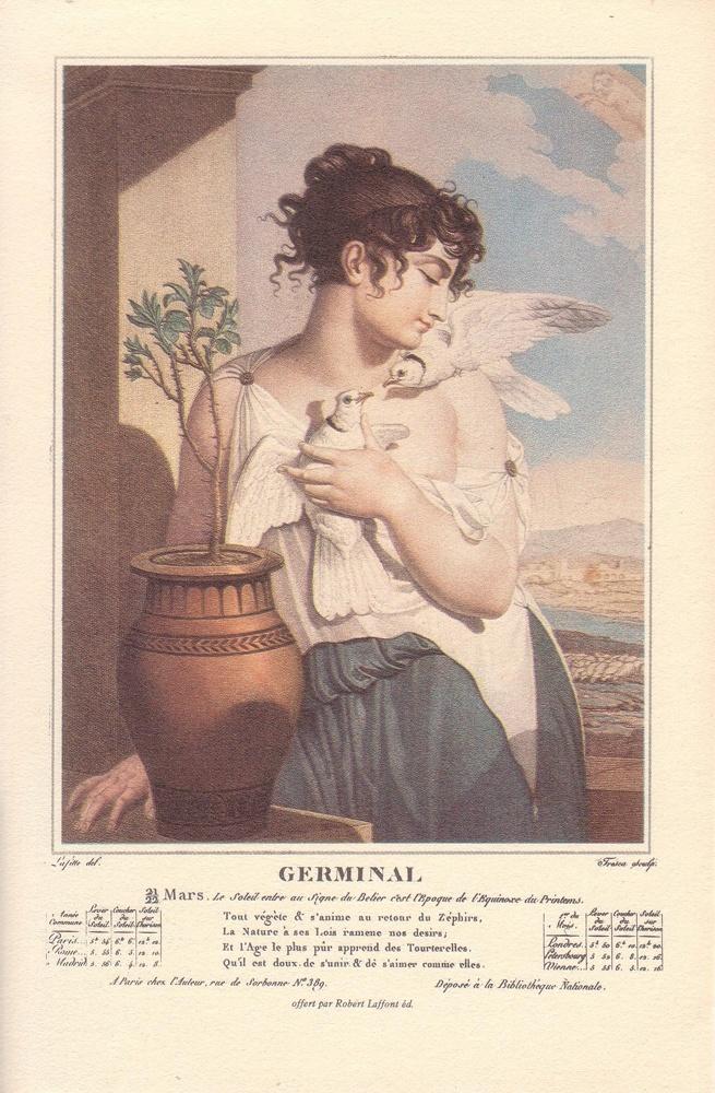 Calendrier républicain, 1793  Germinal, Mois de la germination