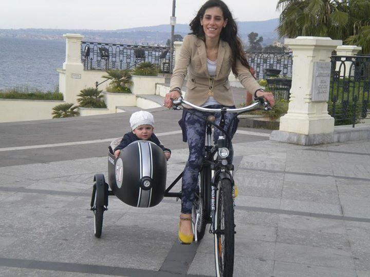 Beach Vintage Side - электрический велосипед с коляской