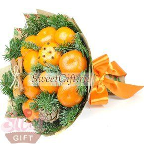 "Букет из фруктов ""Мандаринка"", артикул 112-79-1186, цена 1550 руб., sweetgift.ru"